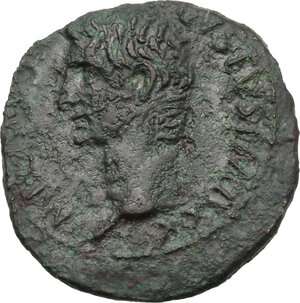 obverse: Augustus (27 BC - 14 AD)  . AE As, 10-12 AD