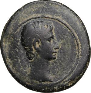 obverse: Augustus (27 BC - 14 AD).. AE As, Ephesos mint, 25 BC
