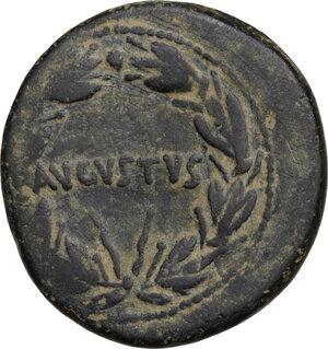 reverse: Augustus (27 BC - 14 AD).. AE As, Ephesos mint, 25 BC