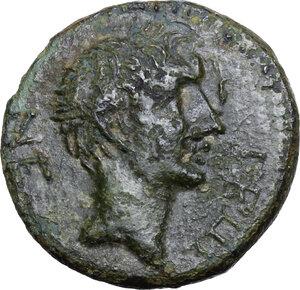 obverse: Augustus and Zenodoros (31-0 BC). AE 20 mm, Chalkis ad Libanum mint (Seleucis and Piera)
