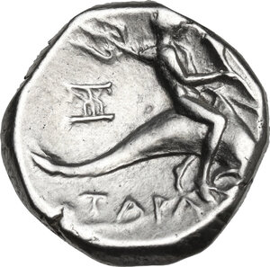 reverse: Southern Apulia, Tarentum. AR Stater, c. 272-235 BC