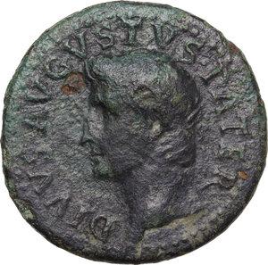 obverse: Divus Augustus (died 14 AD).. AE Dupondius, struck under Tiberius, c. 22/3-26 AD