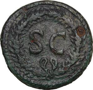 reverse: Divus Augustus (died 14 AD).. AE Dupondius, struck under Tiberius, c. 22/3-26 AD