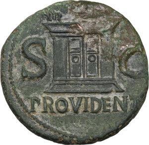 reverse: Divus Augustus (died 14 AD).. AE As, struck under Tiberius, c. 22-30
