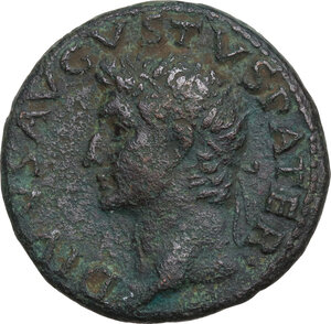 obverse: Divus Augustus (died 14 AD).. AE As, struck under Tiberius, c. 34-37