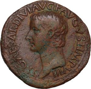 obverse: Tiberius (14-37).. AE Dupondius, 22-23