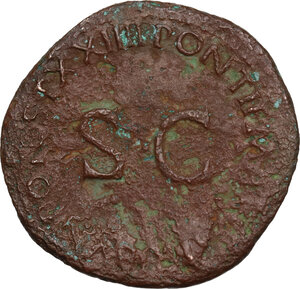 reverse: Tiberius (14-37).. AE Dupondius, 22-23