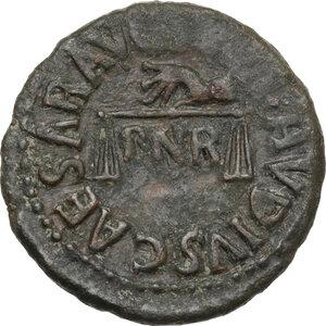 obverse: Claudius (41-54).. AE Quadrans, 41 AD