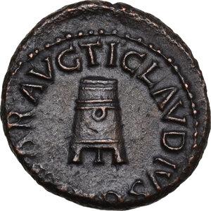 obverse: Claudius (41-54).. AE Quadrans