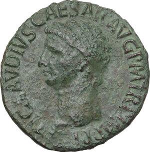 obverse: Claudius (41-54).. AE As, 42-43 AD