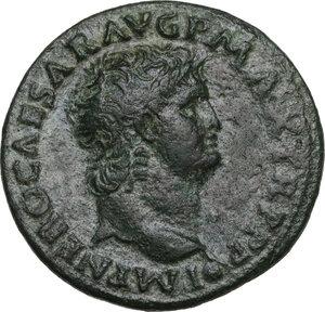 obverse: Nero (54-68).. AE As, struck c. 64 AD