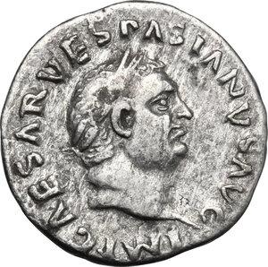 obverse: Vespasian (69-79).. AR Denarius, 70 AD