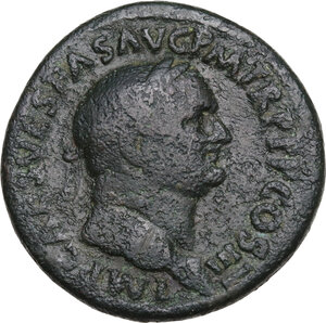 obverse: Vespasian (69-79).. AE Sestertius, 71 AD