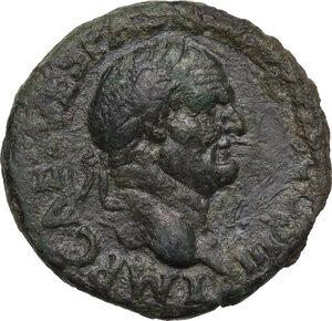 obverse: Vespasian (69-79).. AE As, 71 AD