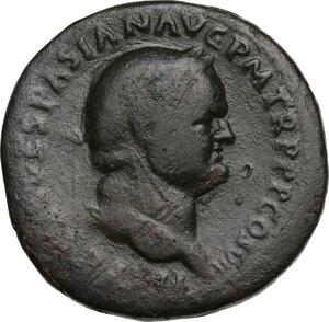 obverse: Vespasian (69-79).. AE Sestertius, 76 AD