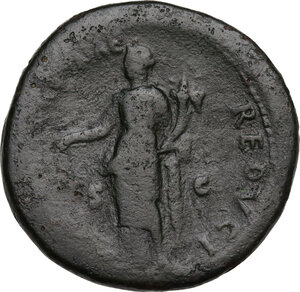 reverse: Vespasian (69-79).. AE Sestertius, 76 AD