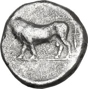reverse: Lucania, Poseidonia-Paestum. AR Diobol, 410-350 BC