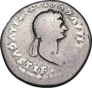 obverse: Julia Titi, daughter of Titus (died 90 AD). . AR Denarius, 80-81