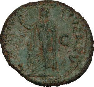 reverse: Domitian as Caesar (69-81).. AE 26 mm, Ephesus mint, 77-78