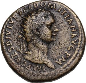 obverse: Domitian (81-96).. AE Dupondius, 82 AD