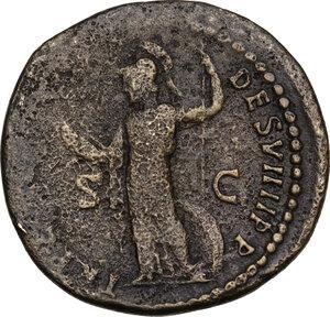 reverse: Domitian (81-96).. AE Dupondius, 82 AD