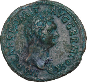 obverse: Domitian (81-96).. AE As, 84 AD