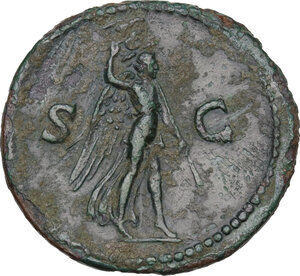 reverse: Domitian (81-96).. AE As, 84 AD