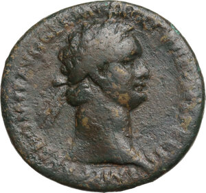 obverse: Domitian (81-96).. AE As. Ludi Saeculares (Secular Games) issue. Rome mint. Struck 14 September-31 December 88 AD