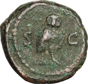 reverse: Anonymous Quadrantes. Period of Domitian to Antoninus Pius. . AE Quadrans