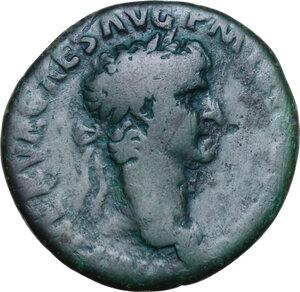 obverse: Nerva (96-98).. AE As. Struck 97 AD