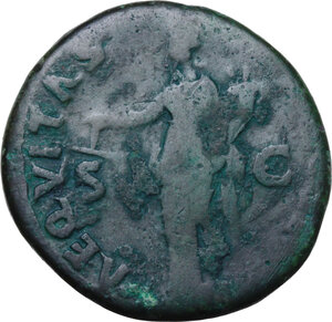 reverse: Nerva (96-98).. AE As. Struck 97 AD