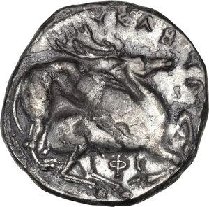 reverse: Northern Lucania, Velia. AR Didrachm, c. 350 BC