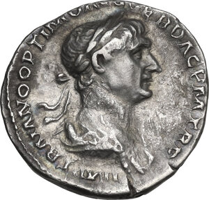 obverse: Trajan (98-117).. AR Denarius, 114-117