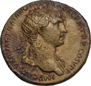 obverse: Trajan (98-117).. AE Dupondius, 104/5-107