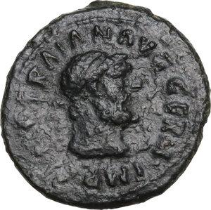 obverse: Trajan (98-117).. AE Quadrans