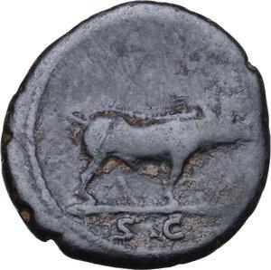 reverse: Trajan (98-117).. AE Quadrans, 114-117