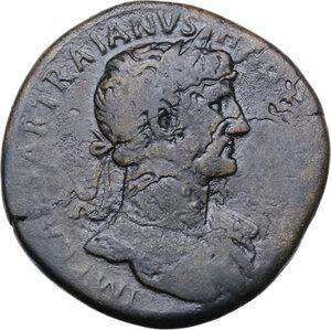 obverse: Hadrian (117-138).. AE Sestertius. Struck 118 AD