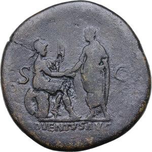 reverse: Hadrian (117-138).. AE Sestertius. Struck 118 AD