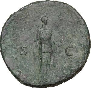 reverse: Hadrian (117-138).. AR Sestertius, 124-125