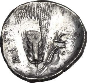 reverse: Southern Lucania, Metapontum. AR Stater, c. 330-290 BC