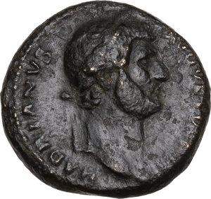 obverse: Hadrian (117-138).. AE Semis, 128-129