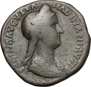 obverse: Sabina, wife of Hadrian (died 137 AD).. AE Sestertius