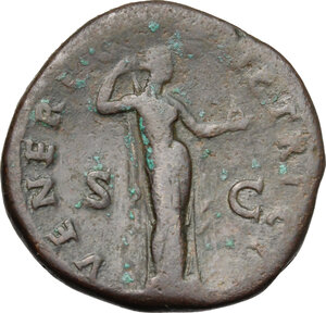 reverse: Sabina, wife of Hadrian (died 137 AD).. AE Sestertius