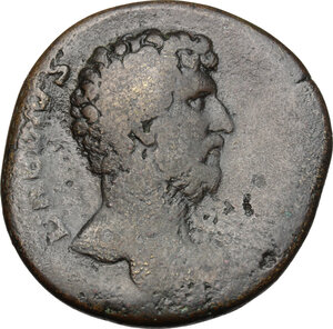 obverse: Aelius (Caesar, 136-138).. AE Sestertius, 137 AD