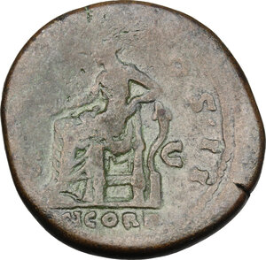 reverse: Aelius (Caesar, 136-138).. AE Sestertius, 137 AD