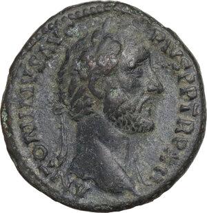 obverse: Antoninus Pius (138-161).. AE As, 148-149 AD