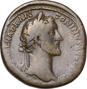 obverse: Antoninus Pius (138-161). AE Sestertius, 151-152 AD
