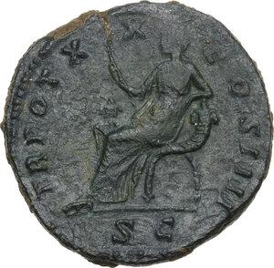 reverse: Antoninus Pius (138-161).. AE Sestertius, 156-157 AD