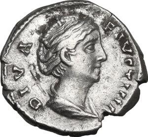 obverse: Faustina I (died 141 AD).. AR Denarius, c. 146-161