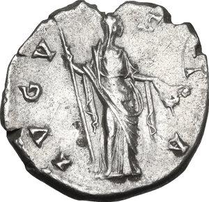 reverse: Faustina I (died 141 AD).. AR Denarius, c. 146-161